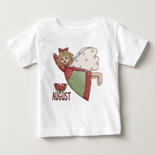 Diseño del ángel del país de agosto playera de bebé