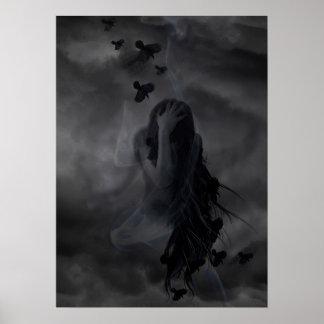 Diseño del ángel oscuro impresiones
