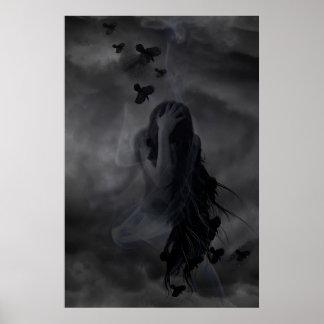 Diseño del ángel oscuro