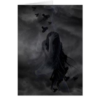 Diseño del ángel oscuro felicitación