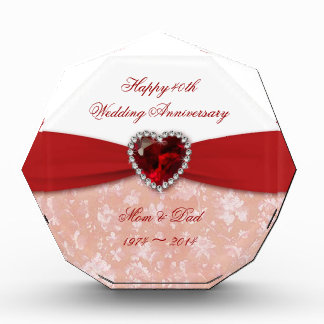 Diseño del aniversario de boda del damasco 40.o