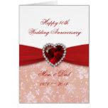 Diseño del aniversario de boda del damasco 40.o felicitaciones