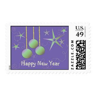 Diseño del Año Nuevo del deslumbramiento Estampilla