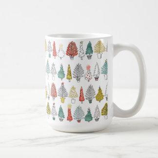 Diseño del árbol de navidad 2016 taza de café