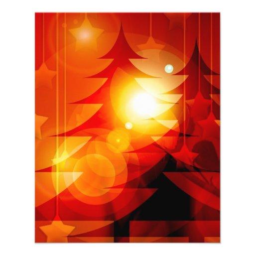 Diseño del árbol de navidad del día de fiesta tarjetón