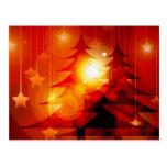 Diseño del árbol de navidad del día de fiesta postales