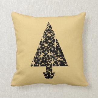 Diseño del árbol de navidad del negro y del color cojines