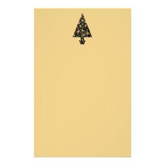 Diseño del árbol de navidad del negro y del color  papelería de diseño