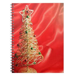 Diseño del árbol de navidad libreta espiral