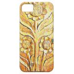 Diseño del árbol floreciente en el color de madera iPhone 5 Case-Mate protector
