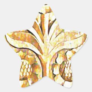 Diseño del árbol floreciente en el color de madera calcomanía forma de estrella personalizadas
