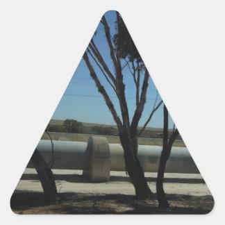 Diseño del árbol y de la tubería pegatina triangular
