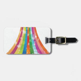 Diseño del arco iris del invierno etiqueta para maleta