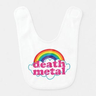 Diseño del arco iris del metal de la muerte babero de bebé