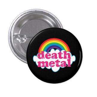 Diseño del arco iris del metal de la muerte pin redondo de 1 pulgada