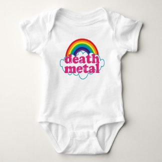 Diseño del arco iris del metal de la muerte poleras