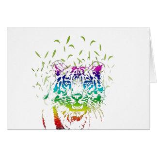 Diseño del arco iris del tigre del arte tarjeta de felicitación