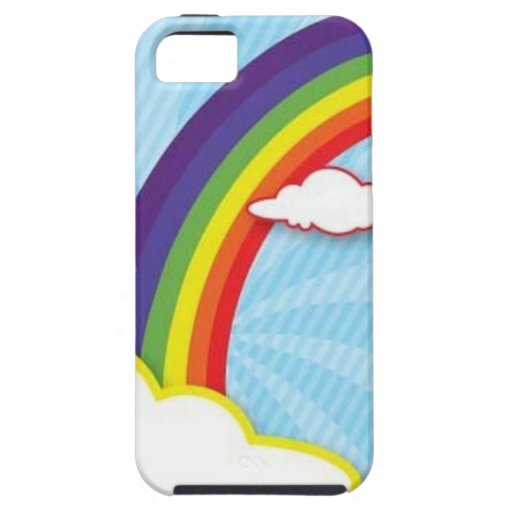 Diseño del arco iris iPhone 5 Case-Mate protector