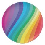 Diseño del arco iris plato para fiesta
