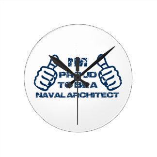 Diseño del arquitecto de Nava Reloj Redondo Mediano