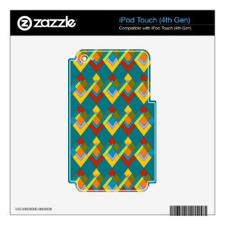 Diseño del art déco en la piel del tacto de iPod Skins Para iPod Touch 4G