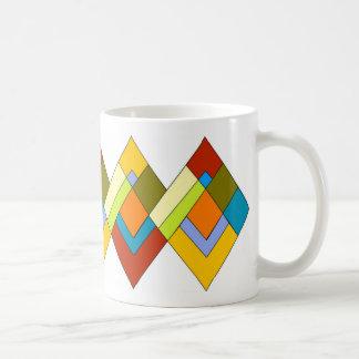 Diseño del art déco en la taza de café