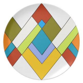 Diseño del art déco plato de comida