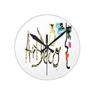 Diseño del art déco reloj redondo mediano
