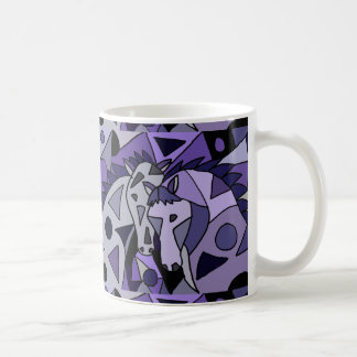 Diseño del arte abstracto del caballo taza