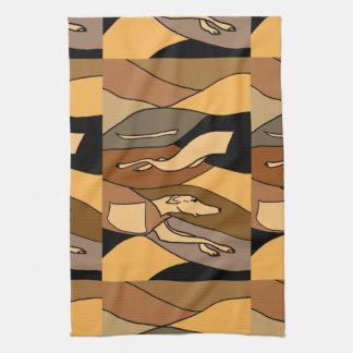 Diseño del arte abstracto del perro del galgo toalla