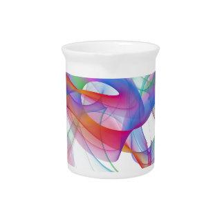 diseño del arte abstracto jarra para bebida