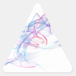 diseño del arte abstracto pegatina triangular
