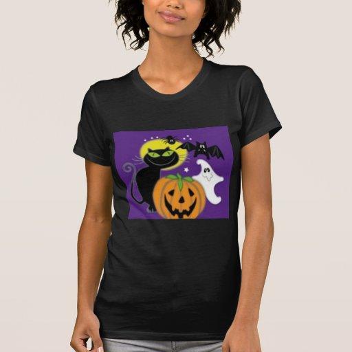 Diseño del arte de Halloween Camisetas