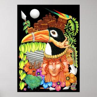 Diseño del arte de la fantasía de Toucan Poster