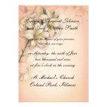 diseño del arte de las flores del lirio en el boda anuncio