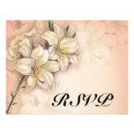 diseño del arte de las flores del lirio en el boda comunicados personales