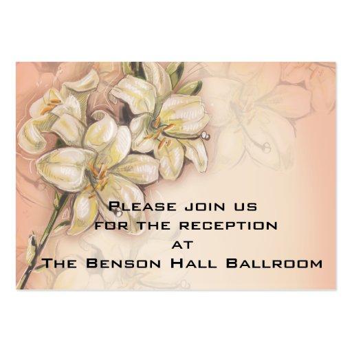 diseño del arte de las flores del lirio en el boda tarjetas de negocios