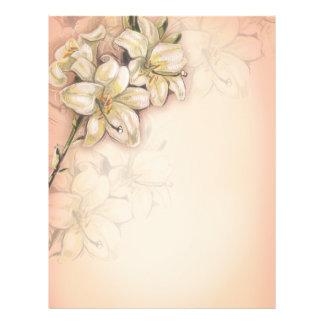 diseño del arte de las flores del lirio en el melo tarjetón