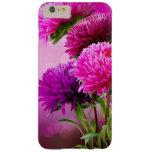 Diseño del arte de las flores del otoño del aster funda de iPhone 6 plus barely there