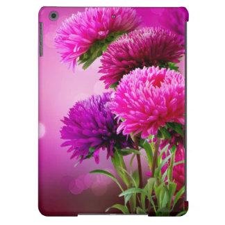 Diseño del arte de las flores del otoño del aster funda para iPad air