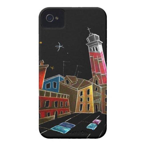 Diseño del arte de Venecia - ejemplo de los niños iPhone 4 Case-Mate Protector