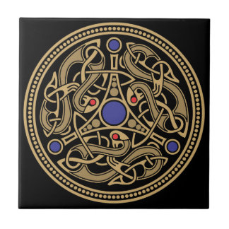 Diseño del arte de Viking Azulejo Cuadrado Pequeño