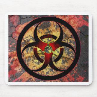 Diseño del arte del Biohazard Alfombrilla De Raton