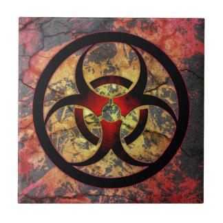 Diseño del arte del Biohazard Teja Cerámica