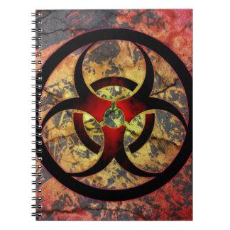 Diseño del arte del Biohazard Libro De Apuntes