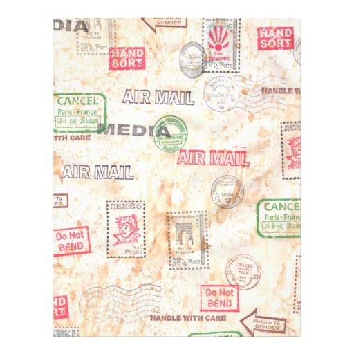 Diseño del arte del correo membrete a diseño