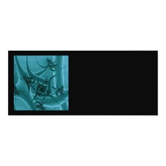 Diseño del arte del fractal de las azules invitación 10,1 x 23,5 cm