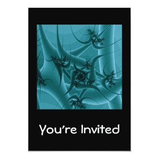 """Diseño del arte del fractal de las azules invitación 5"""" x 7"""""""