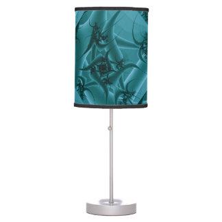 Diseño del arte del fractal de las azules turquesa lámpara de mesilla de noche