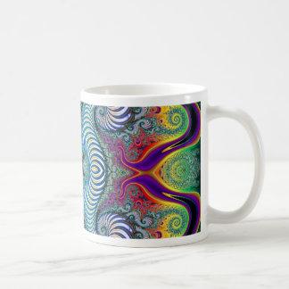 Diseño del arte del fractal de Wurburbo Taza De Café